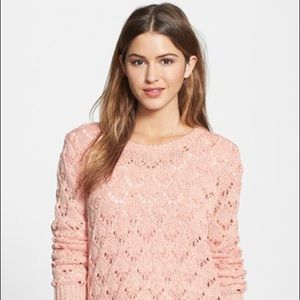 Jessica Simpson Bailey Pink Cotton Blend Sweater M